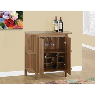 Havenside Home Driftwood Laminated Home Bar with Bottle and Glass Storage