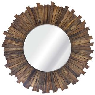Bound to Nature I Wood Beveled Mirror