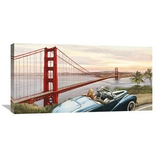 Global Gallery Pierre Benson 'Golden Gate View' Stretched Canvas Artwork