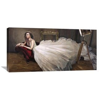 Global Gallery Pierre Benson 'The White Dress' Stretched Canvas Artwork