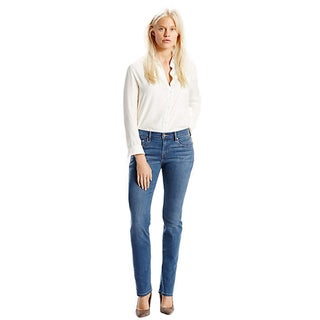 Levi's 505 Women's Dark Blue Mid-rise Jeans