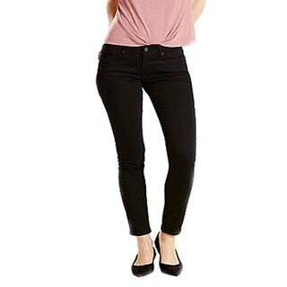 Levi's 524 Women's Black Cotton Skinny Jeans