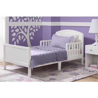 Delta Children Archer Bianca White Toddler Bed
