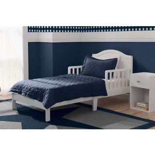 Delta Children Baker White Pine/MDF Toddler Bed