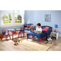 Disney/Pixar 'Cars' Blue/Red Plastic/Metal/Polyester Toddler Bed