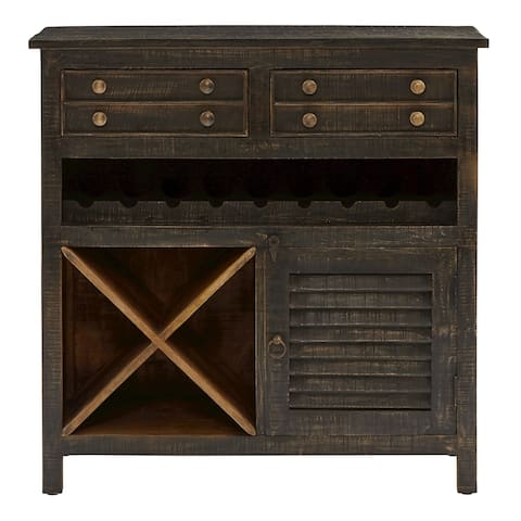 Tillman Black Wine Cabinet