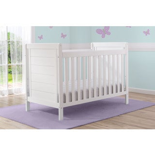 Delta Children Sunnyvale White Pine and MDF 4-in-1 Convertible Crib