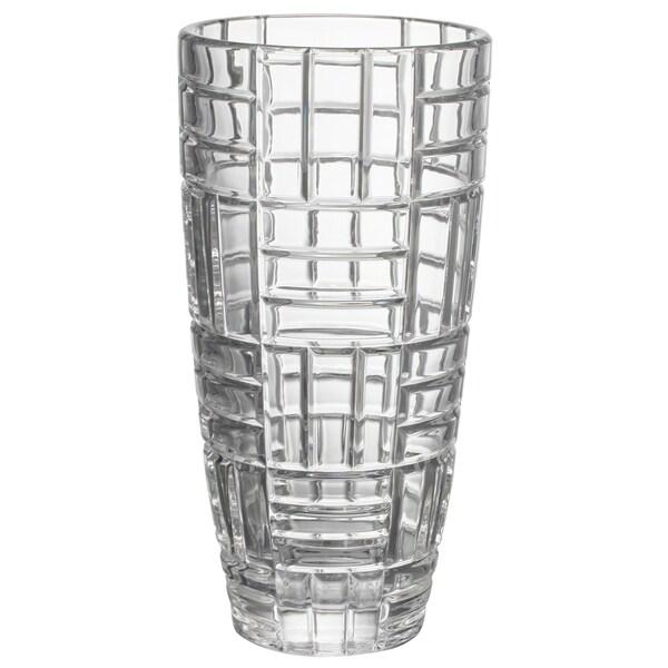 Shop Grille Moderne Clear Crystal 6 Inch X 12 Inch Vase Free
