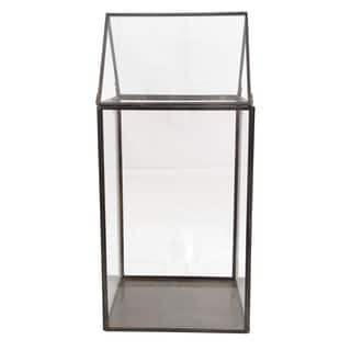 Clear Metal and Glass Terrarium