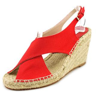 Diane Von Furstenberg Women's Sylvie Too Red Canvas Sandals
