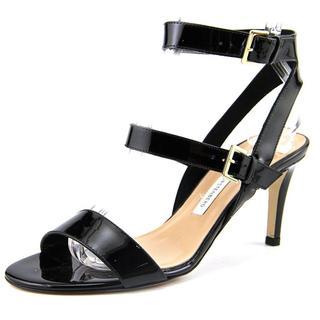 Diane Von Furstenberg Women's Dahlia Black Patent Leather Sandals