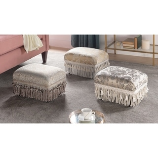 Link to Jennifer Taylor Fiona Traditional Decorative Footstool Similar Items in Cocktail Ottomans