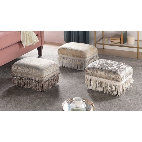 Jennifer Taylor Fiona Traditional Decorative Footstool. Opens flyout.