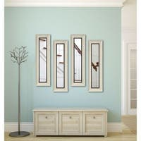 American Made Jaded Ivory Panel Mirrors - Ivory/Black