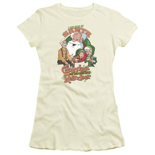 Grandma Got Run Over By A Reindeer/I Believe Junior Sheer in Cream/Ivory