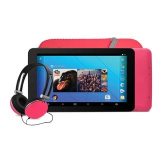 Ematic EGQ367 7'' HD Quad-Core Tablet Bundle - Pink