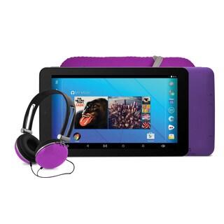 Ematic EGQ367 7'' HD Quad-Core Tablet Bundle - Purple