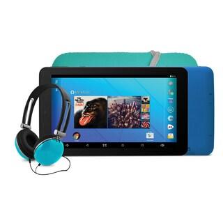 Ematic EGQ367 7'' HD Quad-Core Tablet Bundle - Teal
