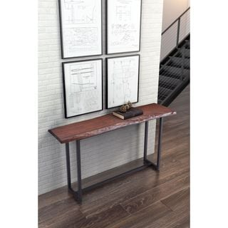 Zuo Papillion Distressed Cherry Oak Console Table