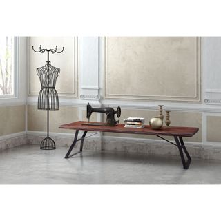 Zuo Omaha Distressed Cherry Oak Coffee Table