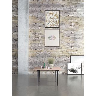 Zuo More Distressed Natural Wood and MDF Coffee Table
