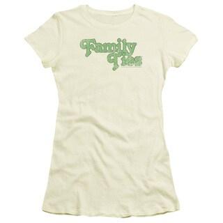 Family Ties/Logo Junior Sheer in Cream