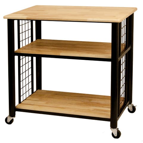 Catskill Craftsman Wood 3-shelf Kitchen Cart