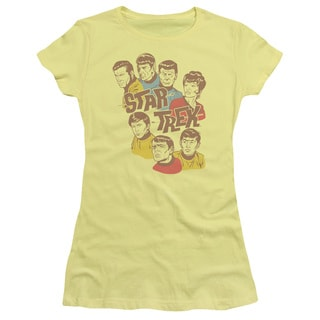Star Trek/Retro Illustrated Crew Junior Sheer in Banana