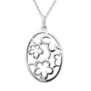 Haven Park Flower Medallion Pendant Necklace