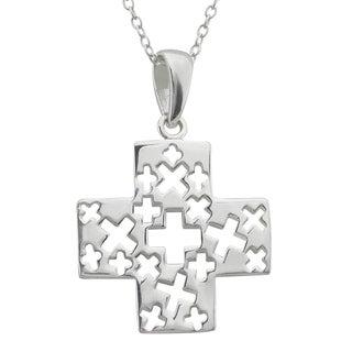 Sterling Silver Cross on Cross Pendant