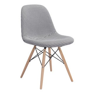 Zuo Sappy Houndstooth Black Polyester Dining Chair