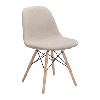 Zuo Selfie Beige Polyester Dining Chair