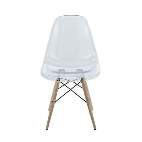 Modway Pyramid Beech Wood/Acrylic Dining Chair