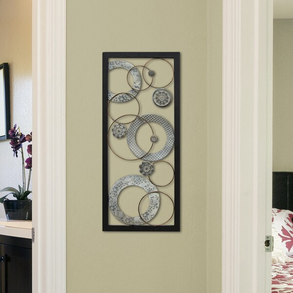 Stratton Home Decor Stamped Circles Panel Wall Decor. Stratton Home Decor Stamped Circles Panel Wall Decor   Free