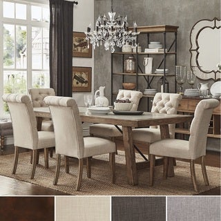 Dakota Oak Reinforced Concrete Trestle Dining Set By INSPIRE Q Artisan