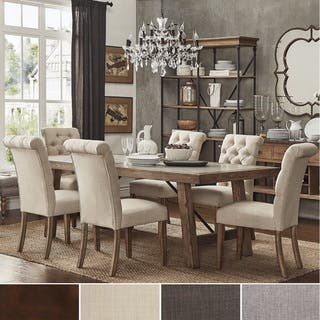 french country dining room set. Dakota Oak Reinforced Concrete Trestle Dining Set By INSPIRE Q Artisan  4 Options Available French Country Kitchen Room Sets For Less Overstock