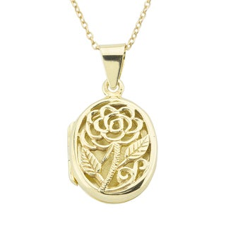 Haven Park Rose Locket Pendant Necklace