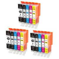 Black, Cyan, Magenta and Yellow Replacement Ink Cartridges for Cannon PIXMA Printers
