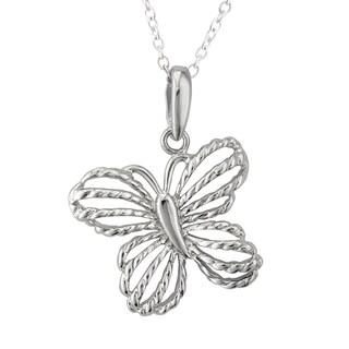 Haven Park Twist Butterfly Pendant Necklace