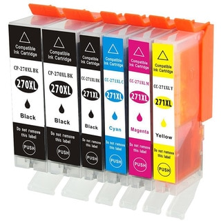 PGI-270 CLI-271 Replacement Ink Cartridge (For Canon PIXMA, MG5720, MG5721, MG5722, MG6820, MG6821 and MG6822 Series Printers)