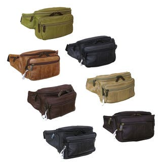 Amerileather Easy Traveller Leather Fanny Pack|https://ak1.ostkcdn.com/images/products/11960463/P18845819.jpg?impolicy=medium