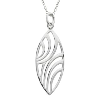 Haven Park Leaf Design Sterling Silver Pendant
