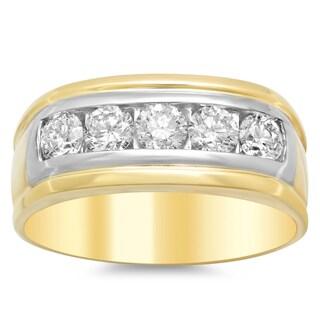 Artistry Collections 14k White Gold 1.5-carat TDW Diamond Men's Ring