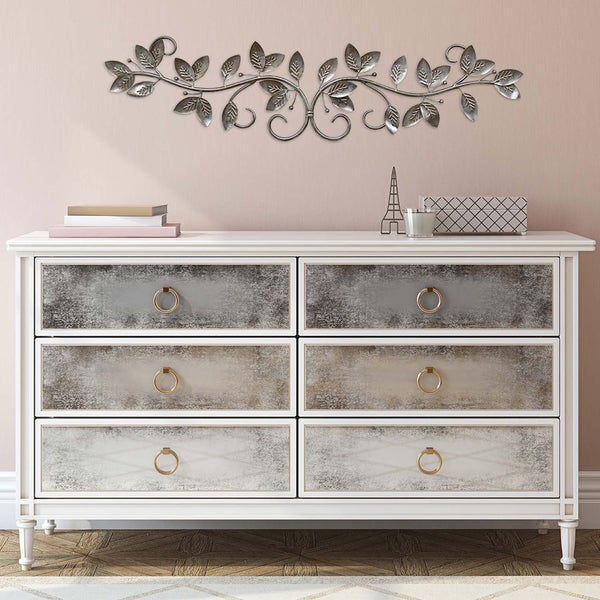 Home Accent Stores: Shop Stratton Home Decor Silver Floral Decorative Wall