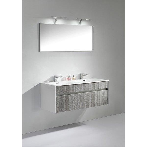 Bathroom Vanity 48 Inch Double Sink: Shop KubeBath Fitto 48-inch Double Sink Bathroom Vanity