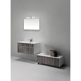 KubeBath Fitto 36-inch Ash Grey Single Sink Bathroom Vanity