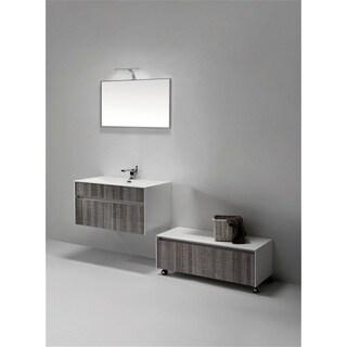KubeBath Fitto 36-inch Ash Grey Single Sink Bathroom Vanity