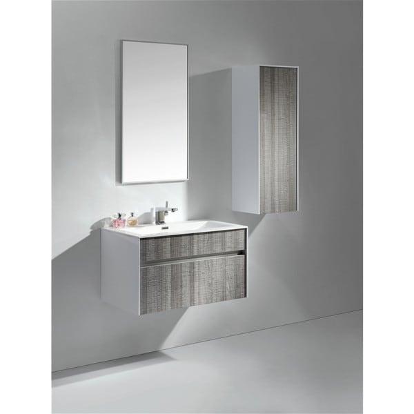 Shop Kubebath Fitto 24 Inch Ash Grey Single Sink Bathroom