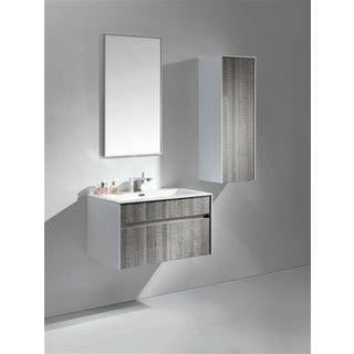 KubeBath Fitto 24-inch Ash Grey Single Sink Bathroom Vanity