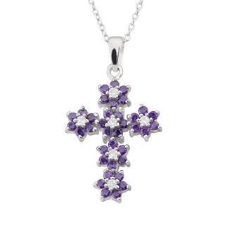 Haven Park Flower Cross Pendant Necklace